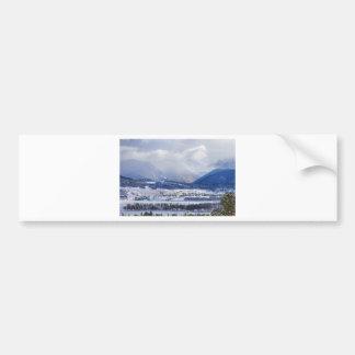 Colorado Rocky Mountain Autumn Storm Car Bumper Sticker