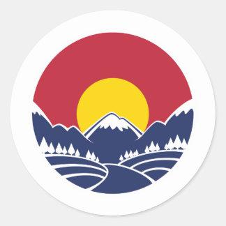 Colorado Rocky Mountain Emblem Classic Round Sticker