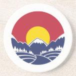 Colorado Rocky Mountain Emblem Drink Coaster