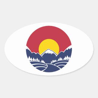Colorado Rocky Mountain Emblem Stickers