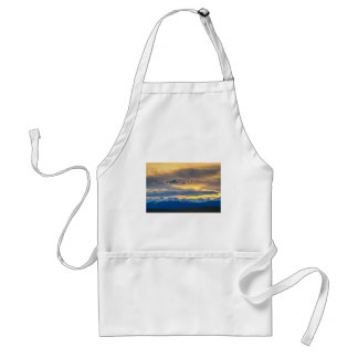 Colorado Rocky Mountain Front Range Sunset Gold Adult Apron