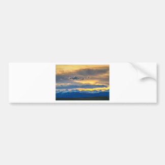 Colorado Rocky Mountain Front Range Sunset Gold Car Bumper Sticker