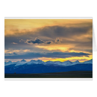 Colorado Rocky Mountain Front Range Sunset Gold Card