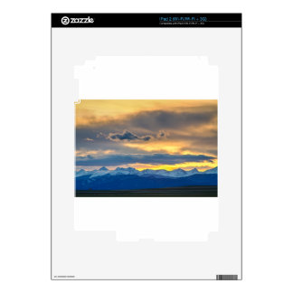 Colorado Rocky Mountain Front Range Sunset Gold Decal For The iPad 2