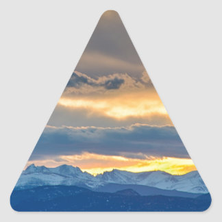 Colorado Rocky Mountain Front Range Sunset Gold Triangle Stickers
