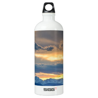 Colorado Rocky Mountain Front Range Sunset Gold Water Bottle