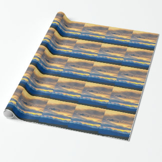Colorado Rocky Mountain Front Range Sunset Gold Wrapping Paper