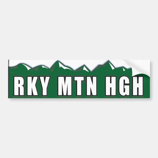 Colorado Rocky Mountain High Bumper Sticker