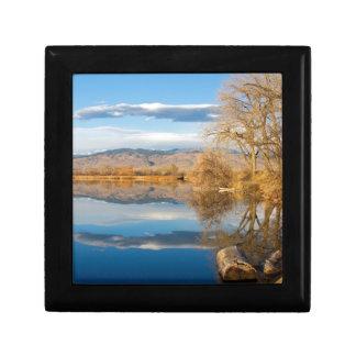 Colorado Rocky Mountain Lake Reflections View Gift Box