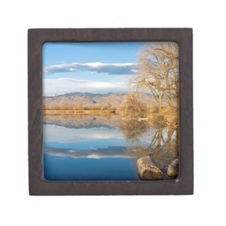 Colorado Rocky Mountain Lake Reflections View Premium Gift Box
