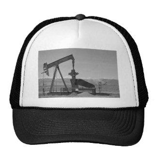 Colorado Rocky Mountain Oil Wells Bw Trucker Hat