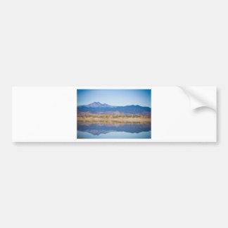 Colorado Rocky Mountain Reflections Car Bumper Sticker