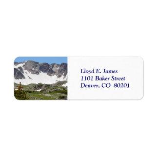 Colorado Rocky Mountain Return Address Label