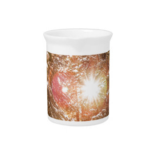 Colorado Rocky Mountain Snow and Sunshine Drink Pitcher