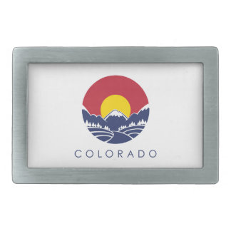 Colorado Rocky Mountain State Flag Belt Buckle