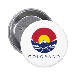 Colorado Rocky Mountain State Flag Pinback Buttons