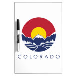 Colorado Rocky Mountain State Flag Dry-Erase Boards