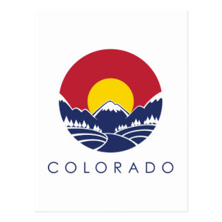 Colorado Rocky Mountain State Flag Postcard