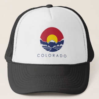 Colorado Rocky Mountain State Flag Trucker Hat