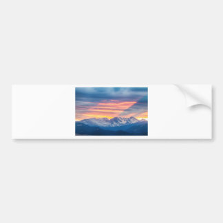 Colorado Rocky Mountain Sunset Waves Of Light Part Bumper Sticker