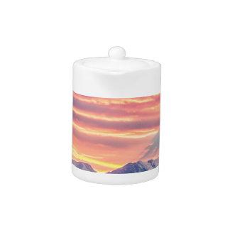 Colorado Rocky Mountain Sunset Waves Of Light Part Teapot