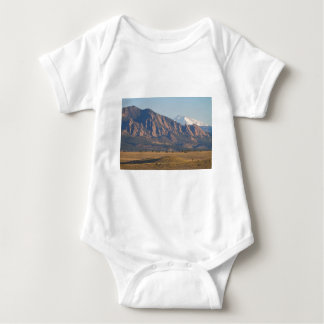 Colorado Rocky Mountains Flatirons With Snow Cove Baby Bodysuit