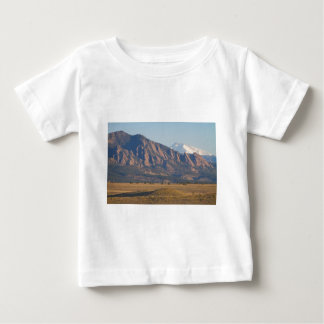Colorado Rocky Mountains Flatirons With Snow Cove Baby T-Shirt