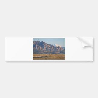 Colorado Rocky Mountains Flatirons With Snow Cove Bumper Sticker