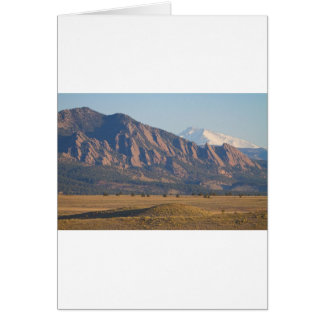 Colorado Rocky Mountains Flatirons With Snow Cove Card