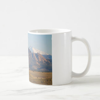 Colorado Rocky Mountains Flatirons With Snow Cove Coffee Mug