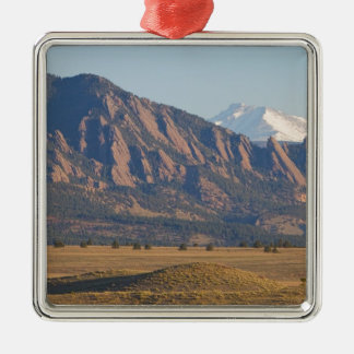 Colorado Rocky Mountains Flatirons With Snow Cove Metal Ornament