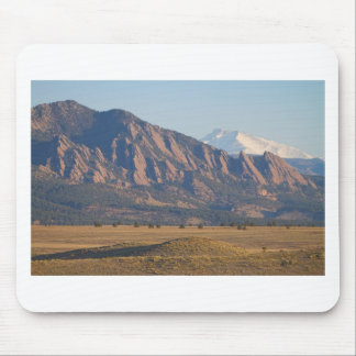 Colorado Rocky Mountains Flatirons With Snow Cove Mouse Pad