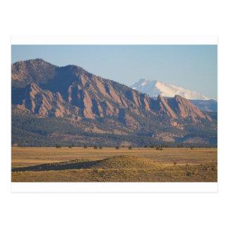 Colorado Rocky Mountains Flatirons With Snow Cove Postcard