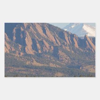 Colorado Rocky Mountains Flatirons With Snow Cove Rectangular Sticker