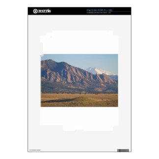 Colorado Rocky Mountains Flatirons With Snow Cove iPad 2 Skin