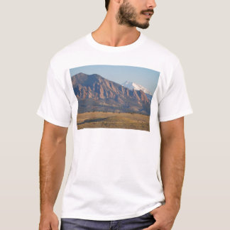 Colorado Rocky Mountains Flatirons With Snow Cove T-Shirt