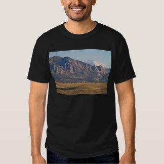 Colorado Rocky Mountains Flatirons With Snow Cove T-Shirt