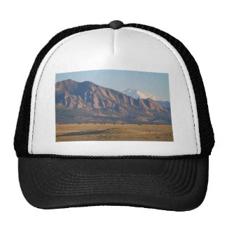 Colorado Rocky Mountains Flatirons With Snow Cove Trucker Hat
