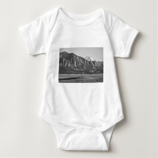 Colorado Rocky Mountains Flatirons with Snow Cover Baby Bodysuit