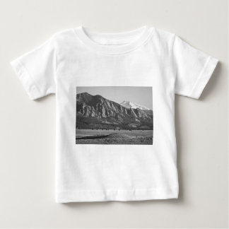 Colorado Rocky Mountains Flatirons with Snow Cover Baby T-Shirt