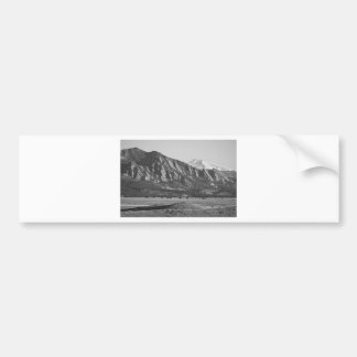 Colorado Rocky Mountains Flatirons with Snow Cover Bumper Sticker