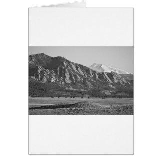 Colorado Rocky Mountains Flatirons with Snow Cover Card