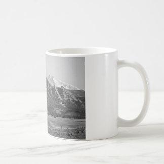 Colorado Rocky Mountains Flatirons with Snow Cover Coffee Mug
