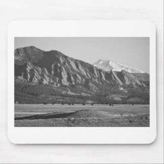 Colorado Rocky Mountains Flatirons with Snow Cover Mouse Pad