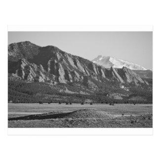 Colorado Rocky Mountains Flatirons with Snow Cover Postcard