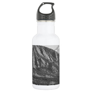 Colorado Rocky Mountains Flatirons with Snow Cover Stainless Steel Water Bottle