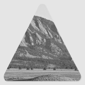Colorado Rocky Mountains Flatirons with Snow Cover Triangle Sticker