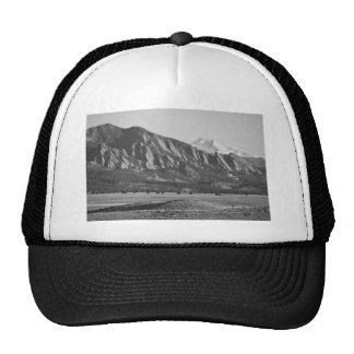Colorado Rocky Mountains Flatirons with Snow Cover Trucker Hat