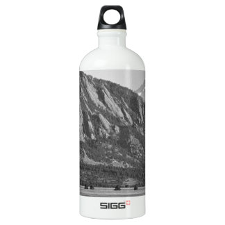 Colorado Rocky Mountains Flatirons with Snow Cover Water Bottle