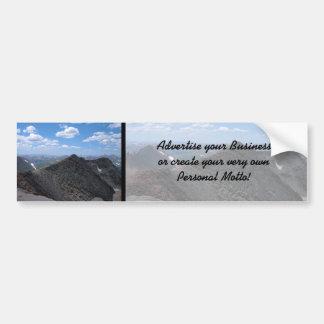 Colorado Rocky Mountains Moonscape Car Bumper Sticker
